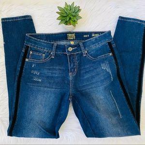 True Craft Distressed Skinny Jeans Sz 9